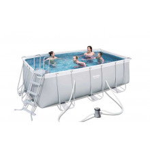 Piscine tubulaire rectangulaire Bestway Power Steel 4,12 x 2,01 x 1,22