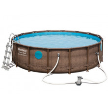 Piscine tubulaire ronde Bestway Power Steel Swim Vista 4,88 x 1,22m