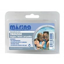 Trousse d'analyse Brome / Oxygène actif / pH + recharge pastilles Marina