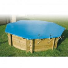 Bâche de protection pour piscine hexagonale Ubbink-Ø 410cm