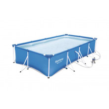 Piscine tubulaire rectangulaire Bestway Steel Pro 4 x 2,11 x 0,81 m