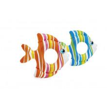 Bouée gonflable poisson tropical Intex pour enfants 3-6 ans