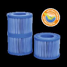 Lot de 3 cartouches antibactériennes de spa gonflable Netspa
