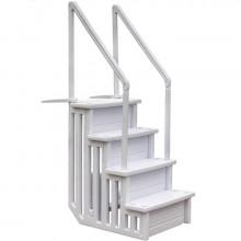 Escalier 4 marches Gre pour piscine enterrée