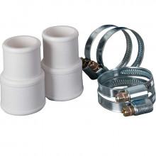 2 Manchons pour branchement tuyaux + 4 colliers Ø 38/32mm GRE