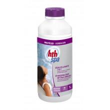 HTH Spa 1L - Eau éclatante 3 en 1 clarifiant non moussant