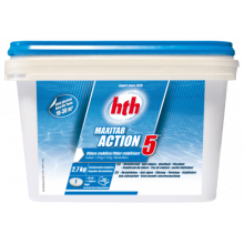 HTH Maxitab Action 5 - Chlore stabilisé multifonction galet 135g