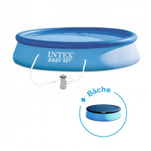 Piscine autoportée Easy set Intex 3.96 x 0.84 cm + Bâche