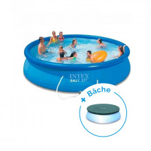 Piscine autoportante Intex Easy Set 4,57 x 0,84 m + Bâche