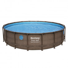 Piscine tubulaire Bestway Power Steel Swim Vista ronde 5.49 x 1.22 m
