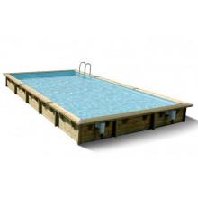 Piscine en bois rectangulaire Ubbink Linéa 500 x 800