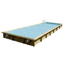 Piscine en bois rectangulaire Ubbink Linéa 500 x 1100