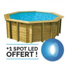 Piscine en bois octogonale Ubbink Sunwater All in ONE 360