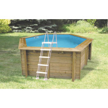 Piscine en bois octogonale Ubbink Sunwater All in ONE 410