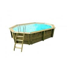 Piscine en bois octogonale Ubbink Sunwater 300 x 490