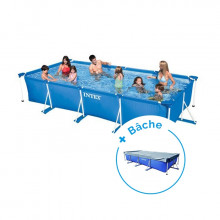 Piscine tubulaire Intex MetalFrame Junior 4,50 x 2,20 x 0,84 m + Bâche