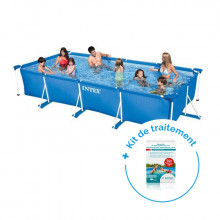 Pack Piscine tubulaire Intex MetalFrame Junior 4,50 x 2,20 x 0,84 m + Traitement pour piscines < 10 m³