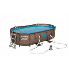 Piscine tubulaire ovale Bestway Power Steel Swim Vista 4,27 x 2,50 x 1,00
