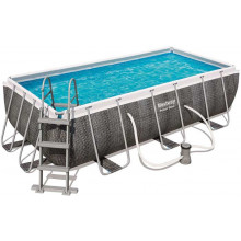 Piscine tubulaire rectangulaire Bestway Power Steel 4,04 x 2,01 x 1,00 Aspect Résine