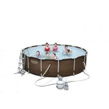 Piscine bestway piscines hors sol tubulaires et acier for Piscine tubulaire imitation bois