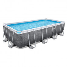 Piscine tubulaire Bestway Power Steel Rotin Gris 4.88 x 2.44 x 1.22 m