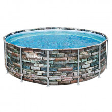 Piscine tubulaire Bestway Power Steel Stone ronde 4.27 x 1.22 m