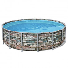Piscine tubulaire Bestway Power Steel Stone ronde 4.88 x 1.22 m