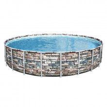 Piscine tubulaire Bestway Power Steel Stone ronde 6.71 x 1.32 m