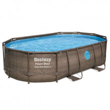 Piscine tubulaire Bestway Power Steel Swim Vista ovale 4.88 x 3.05 x 1.07 m