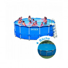 Piscine tubulaire Intex MetalFrame 4,57 x 1,22 m + Bâche