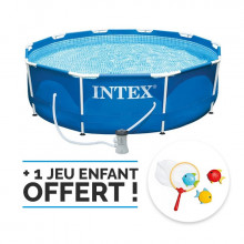 Piscine tubulaire et épurateur INTEX MetalFrame 3.05 x 0.76 m (Piscines)