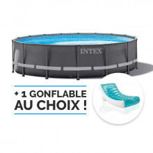 Piscine tubulaire ronde Intex Ultra XTR 4,27 x 1,22m