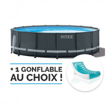 Piscine tubulaire ronde Intex Ultra XTR Frame 5.49 x 1.32 m