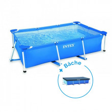 Piscine tubulaire Intex MetalFrame Junior 3 x 2 x 0.75 m + Bâche