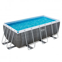 Piscine tubulaire rectangulaire Bestway Power Steel 4,12 x 2,01 x 1,22 Aspect Résine