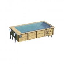 Piscine urbaine XL Procopi - BWT My Pool en bois 6,5 x 3,5 m