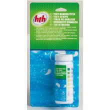 Tube de 25 bandelettes de test ph et d'analyse 6 paramètres HTH