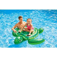 Petite tortue gonflable à chevaucher pour piscine INTEX