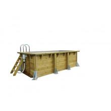 Piscine en bois rectangulaire Ubbink Linéa UrbanPool 250 x 450