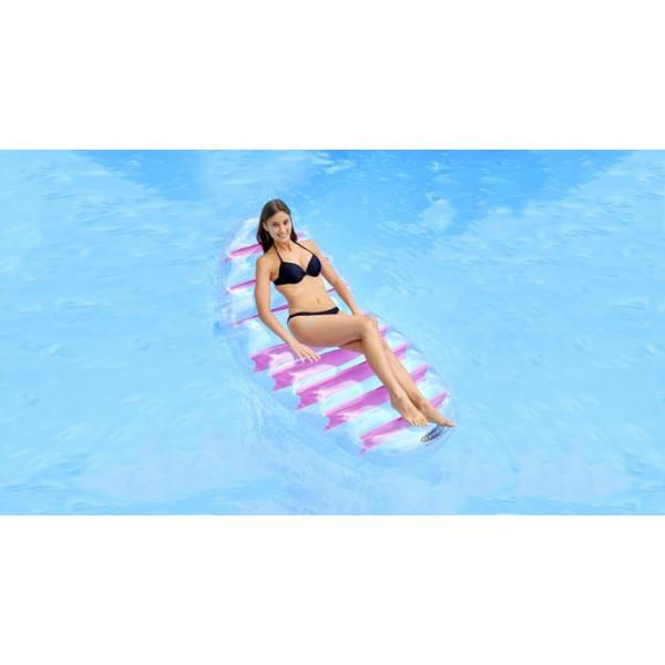 Matelas gonflable relevé transparent pour piscine Kerlis