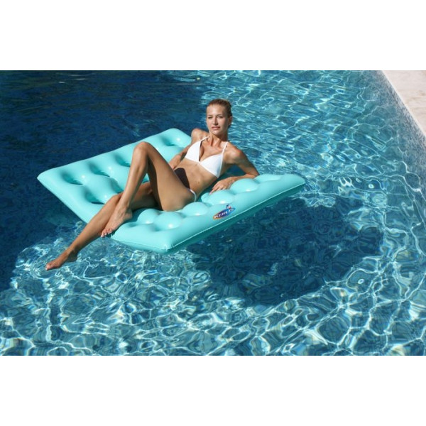 matelas gonflable carr pour piscine kerlis. Black Bedroom Furniture Sets. Home Design Ideas