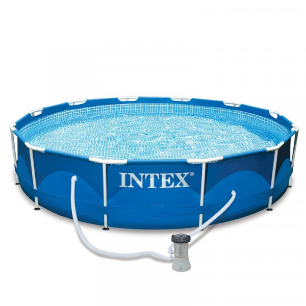 Piscine tubulaire Intex Metal Frame 3.66 x 0.76 m + épurateur 2m3/h