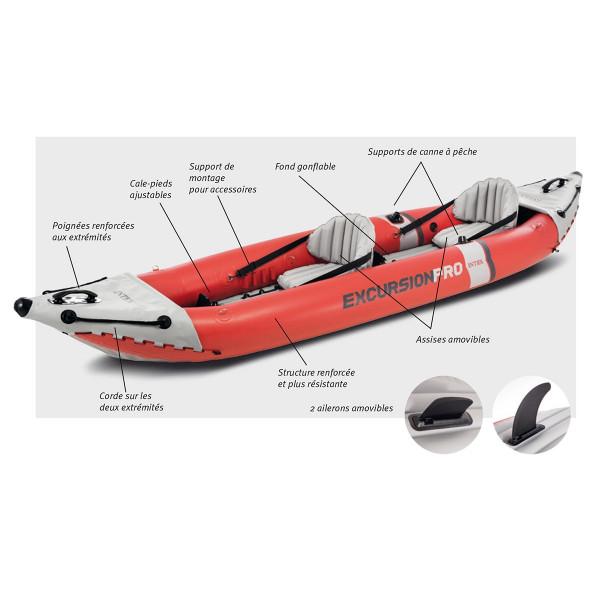 Schéma Kayak Gonflable Intex Excursion Pro