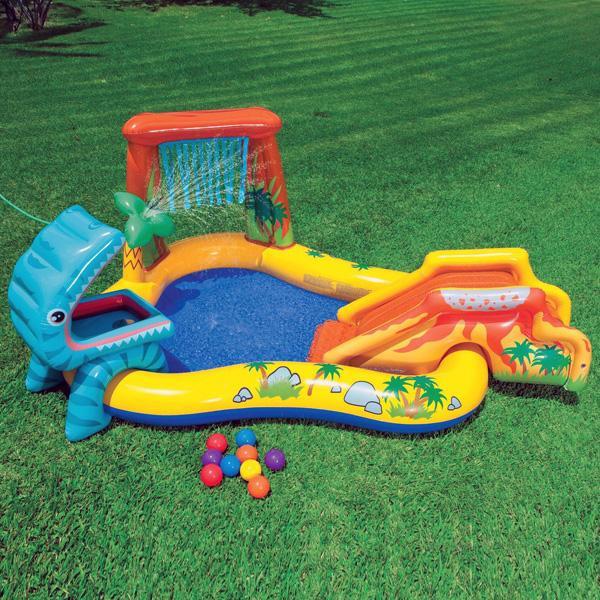 Jeux piscine Aire de jeux gonflable Jurassic Intex