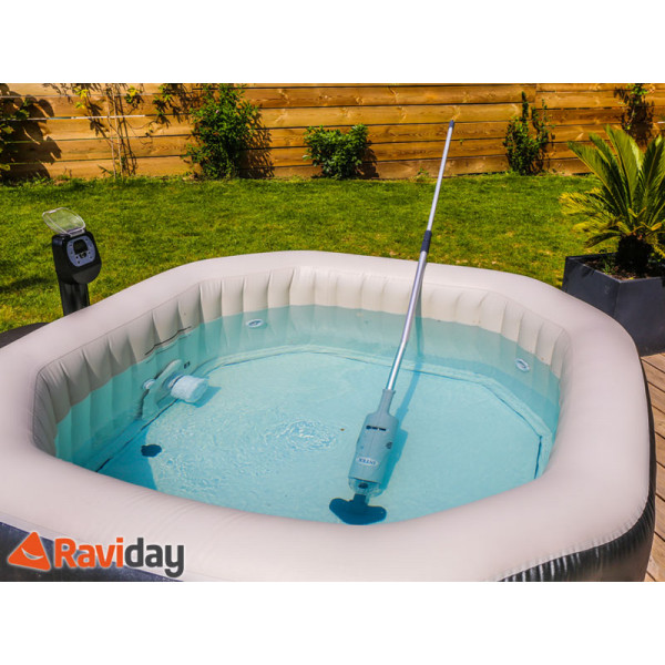 Aspirateur pour piscine et spa intex batterie raviday for Aspirateur spa intex