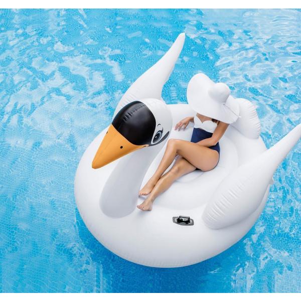 Cygne gonflable géant pour piscine Intex