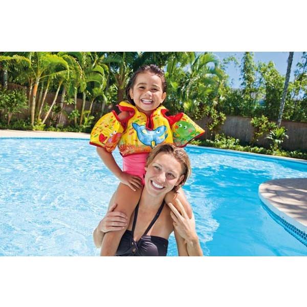 Ensemble gilet et brassards enfant pour piscine Intex
