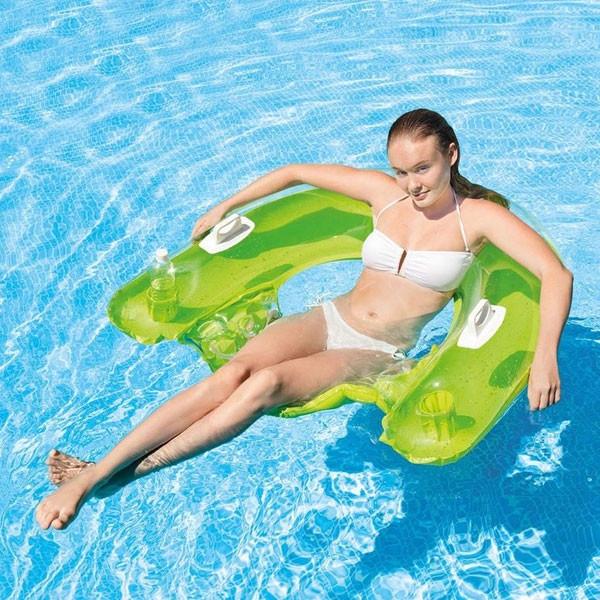 Fauteuil de piscine gonflable semi-immergé Intex Sit'n Float Vert