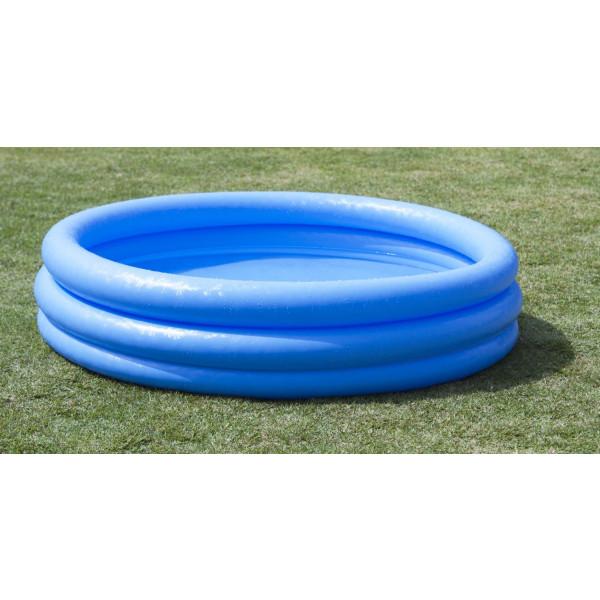 Piscine gonflable INTEX bleu cristal boudins gonflable
