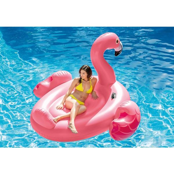 Flamant rose gonflable géant pour piscine Intex